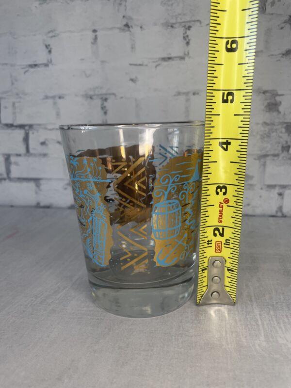 UnderTow Lowball Tiki tOny mai tai glass in 24 karat gold