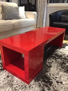 Red IKEA Coffee Table