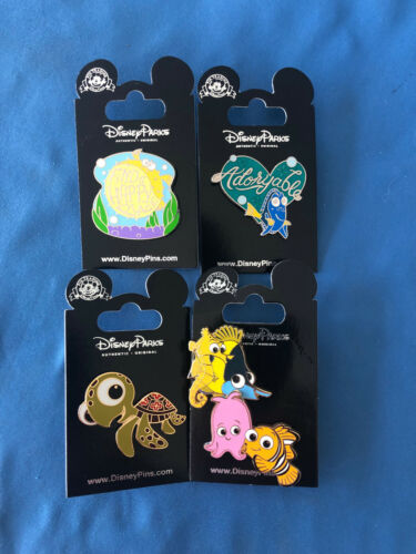 NEMO Dory and friends Disney Pin LOT of 4 pins Set  #5  NEW on  Cards AUTHENTIC