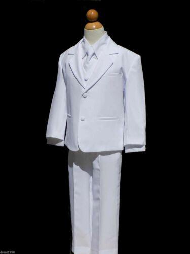 Boys Baptism, Ring Bear, Recital Formal Suit Set White, Size 2T to 14