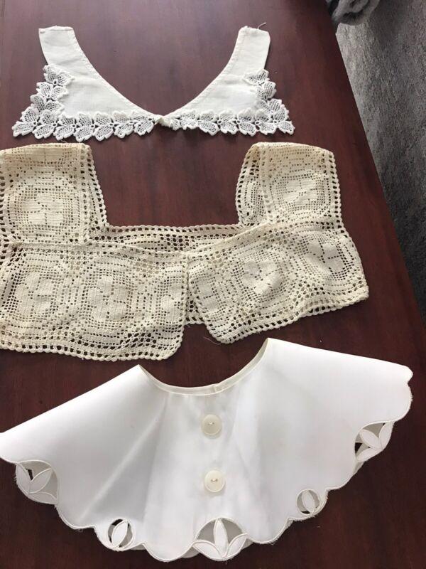 Vintage Lace Crochet Dress Collar Lot of 3 (6)