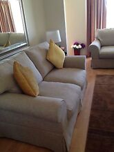 2 X 2 seater settees in Oatmeal fabric.as new Glynde Norwood Area Preview
