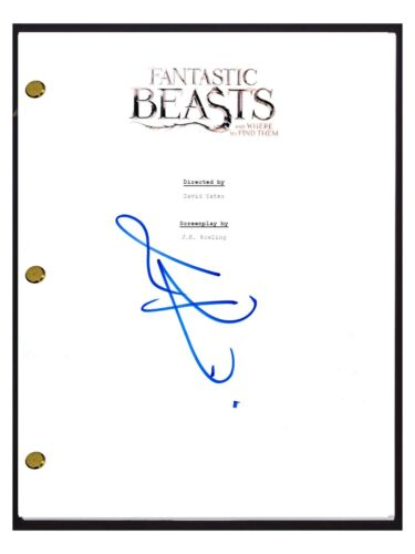 Eddie Redmayne Signed FANTASTIC BEASTS AND WHERE TO FIND THEM Movie Script COA