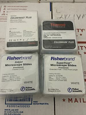 Mix Lot Of New Microscope Slides Thermo And Fisherbrand