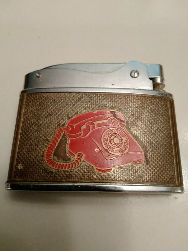 Vintage SOUTHWESTERN ARKANSAS BELL TELEPHONE Advertising Lighter HOWARD -JAPAN-