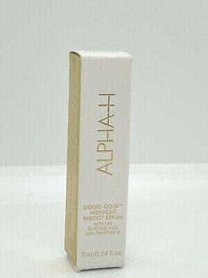 Alpha H Liquid Gold Midnight Reboot Serum Glycolic Acid .24oz/7ml Travel NIB