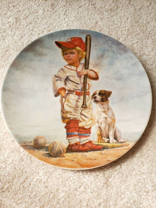 The Big Leaguer Plate From Original Oil By Gregory Perillo # 01808 of 15,000