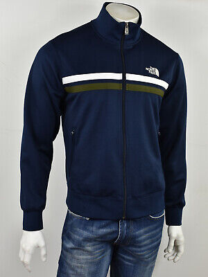 THE NORTH FACE Navy w white & Olive Stripes Fitted Track Jacket Mens M