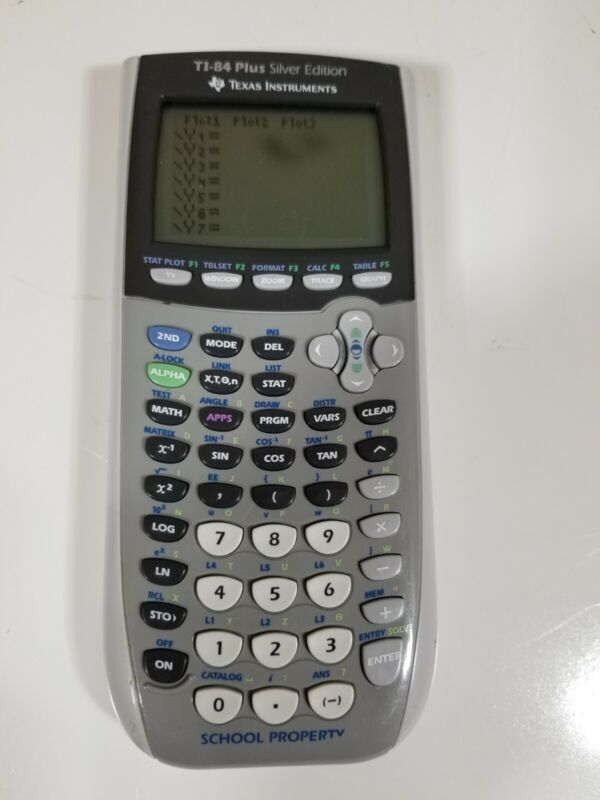 Texas Instruments TI-84 Plus Silver Edition Graphing Calculator - Tested Read