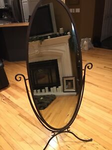 Wrought Iron Stand Up Mirror