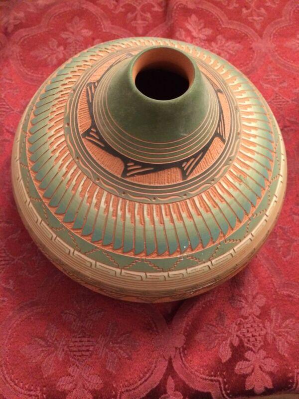 Navajo Etched Pottery Artist Hilda Whitegoat