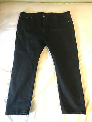 Lot of 2 Pairs Of Size 46 X 30 Black Jeans 1x Levi's 502 & 1x Ralph Lauren Polo