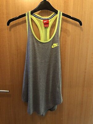 Nike Vest Size Small Grey And Neon Yellow