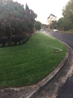 Turfing and garden bed installing