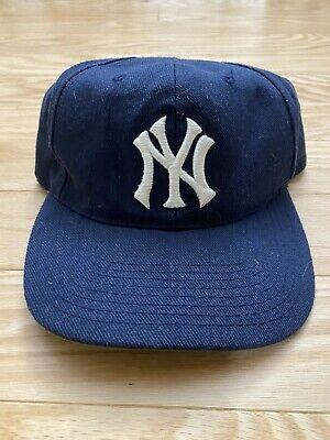 Vintage 80s New York Yankees Sports Specialties Wool Snapback Hat Cap RARE