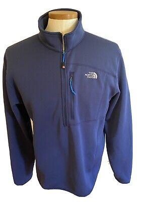 The North Face Summit Series Navy Blue Half Zip Sweatshirt/Jacket Mens Large