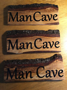Home made wooden signs
