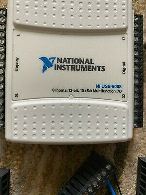 Two National Instruments Usb-6008 Data Acquisition Card Ni Daq Multifunction