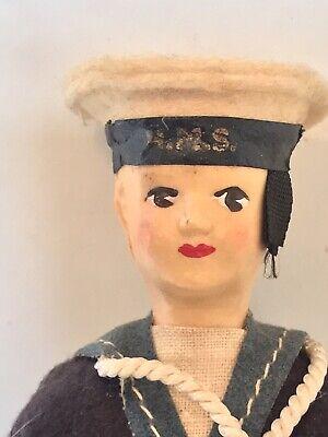 Vintage Peggy Nisbet Hard Plastic Sailor Doll - Rare - Q6