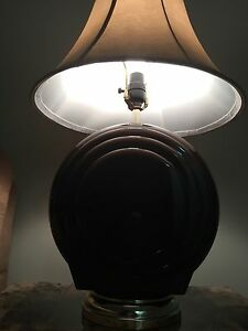 Nice brown lamp with tanned hat (like NEW!!!) Kitchener / Waterloo Kitchener Area image 3