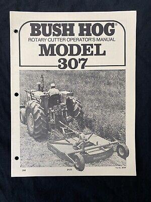 Bush Hog Rotary Cutter Operators Manual Model 307 805