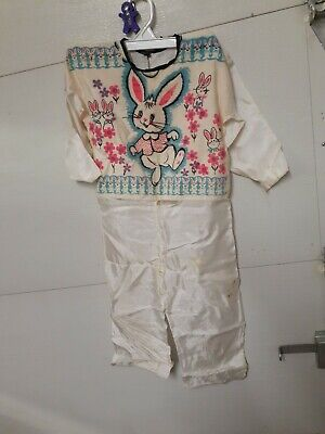 Vintage Collegeville Halloween Costume Mask Child 6 - 8 Years white RABBIT