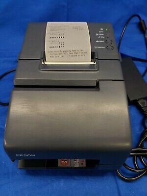 Epson Tm-h6000iv Pos Thermal 40.891 Km Usb Network Receipt Printer W Ac 3945