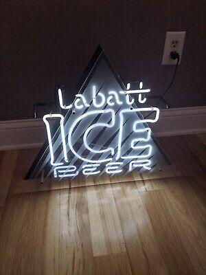 Labatt Blue Beer Neon Lighted Bar Sign 1994 USA