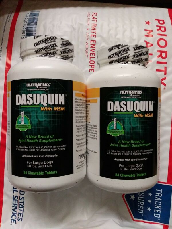 Dasuquin MSM Chewable Tablets for Large Dogs. 2x 84 ,168 in total exp 01/23
