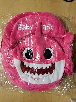 Baby Shark Backpack Pink Mommy Plush Cartoon Children Kids School Free -