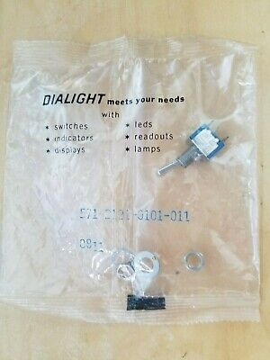 New Dialight Micro Switch Toggle On-off-on 571-2121-0101-011 5a 125vac
