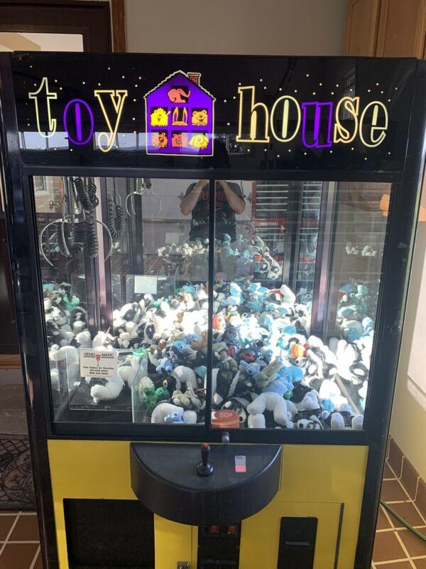 "Toy House Skill Claw Crane Machine W/ Bill Acceptor - 31"" Wide Standard Size"