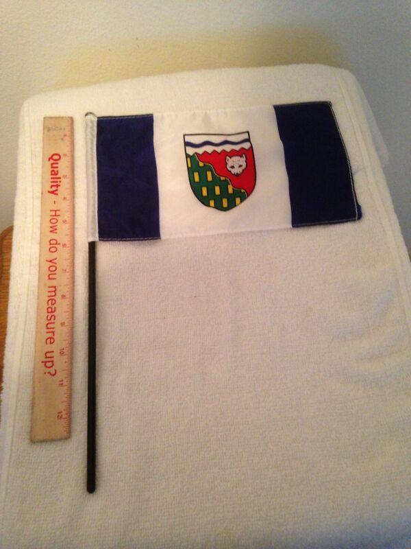"NORTHWEST TERRITORY, CANADA FLAG 10"" X 5 3/4"""