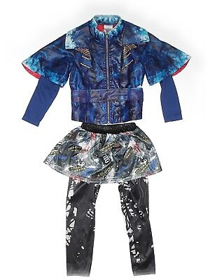 Girl Disney Store The Descendants Evie Blue Dress Up Halloween Costume Wig 4