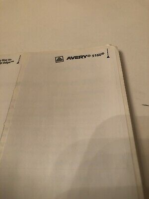Avery 5160 Shipping Address Labels Lot Of 300 10 Sheets