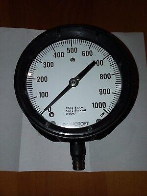 1 Ashcroft Duragauge Gauge 0-1000 Psi