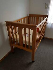 Timber Stained Cot
