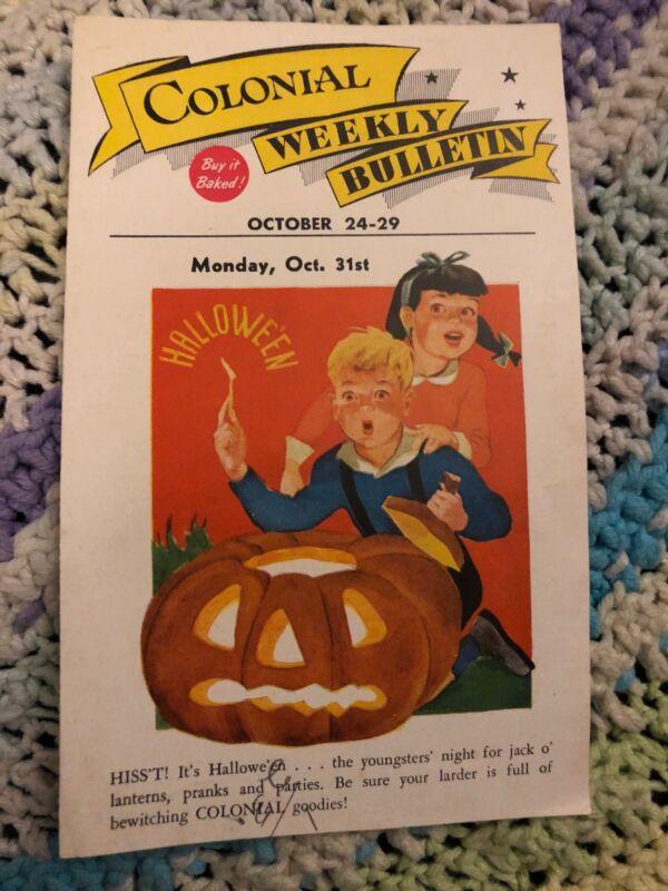 Colonial Baking Company Weekly Bulletin Ad October