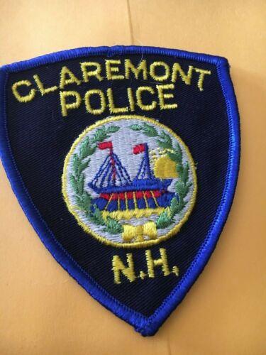 Claremont New Hampshire Vintage Police Patch version 3