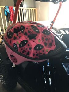 Toddler girls helmet.