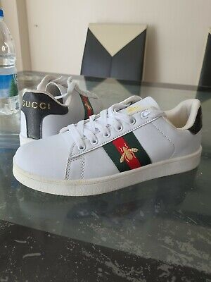 Gucci Bee Ace Trainers white   unisex size 6