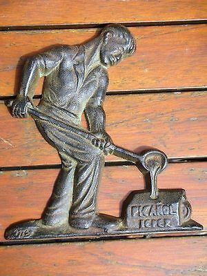 ypres ieper Picanol plaque publicitaire fer ou fonte