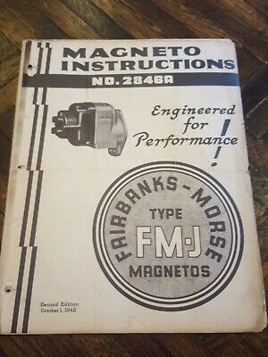 Fairbanks Morse Magnetos Service And Parts Manual Original Antique Tractors Etc