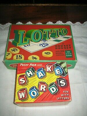 2 Vintage Games Shake Words & Lotto/Housey Housey