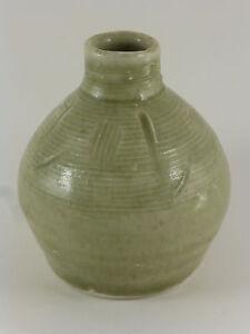 BERNARD LEACH'S St Ives Studio Pottery Celadon Porcelain Vase Vintage Cornwall