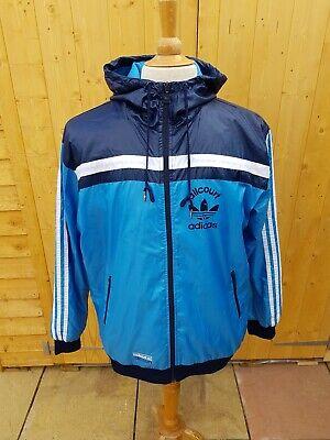 Adidas Allcourt Hooded Windbreaker Jacket Blue Medium
