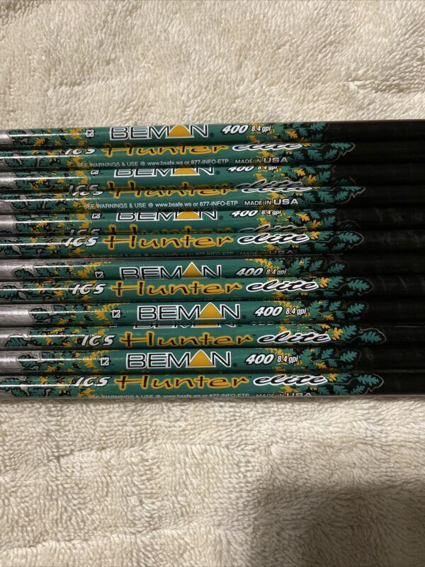 12 BEMAN ICS HUNTER ELITE 400 shafts with inserts