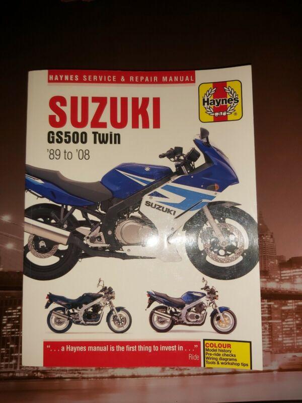 Haynes Repair Manual Suzuki Gs500 Twin 1989 - 2008 workshop manual.