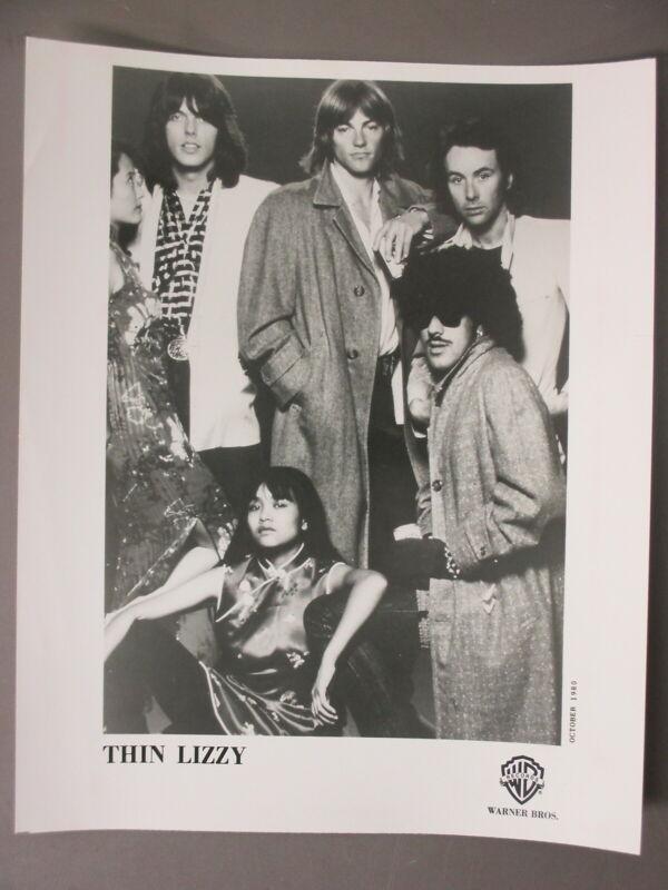 Thin Lizzy promo photo 8 X 10 matte finish black & white 1980!
