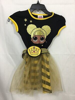 Queen Bee Outfit (LOL SURPRISE GIRLS QUEEN BEE OUTFIT CLOTHES DRESS W/COIN PURSE BELT SIZE SMALL)
